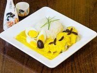 Ají de gallina con arroz blanco