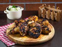 Pollo entero + arroz con pollo + ensalada fiesta + yuca hervida (8 oz)
