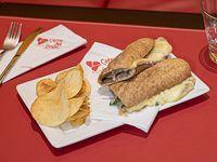 Sándwich de ternera y mozzarella