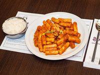 Topokki con arroz