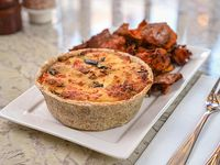 Tarta de tomate, muzzarella y berenjenas