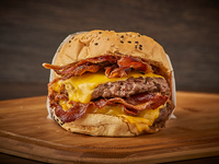 Hamburguesa doble cheese BBQ