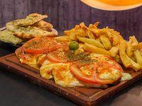 Promo - Milanesa napolitana al plato con papas fritas