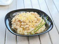 Menú diario - Strogonoff de pollo con arroz blanco