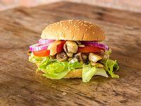 Combo - Sándwich veggie de la Huerta + papas fritas + gaseosa en lata 350 ml
