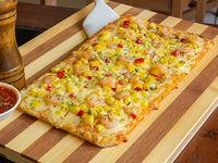 Pizza choclo y camarón