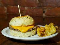 Burger cheddar simple