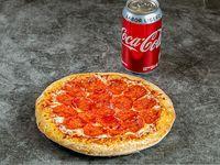 La Mía (1 persona, 6 pedazos) + 1 lata de Coca Cola