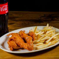 Combo hot finger 2 - Pechuguitas bañadas en salsa picante + papas fritas + refresco 500 ml