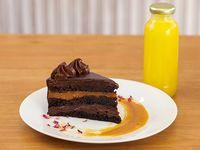 Promo  3 - Porción torta + jugo naranja