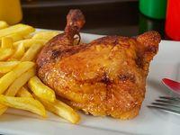 Promoción - 1/4 Pollo con papas fritas + Bebida en lata 330 ml