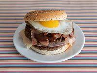 Hamburguesa bacon de la casa