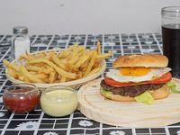 Hamburguesa casera porteña