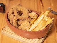 Promo triple fritura - Papas fritas, aros de cebolla y nuggets de pollo