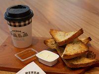 Promo - Porción de tostines de multicereal + Bebida caliente