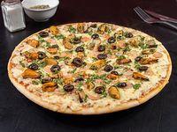 Pizza con mariscos