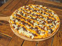 Pizza cheeseburger premium