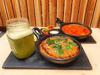 Risotto de Setas, Sopa de Tomate y Limonada