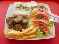 Falafel vegetariano al plato