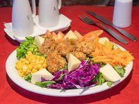 Ensalada tibia de pollo