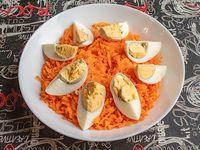 Ensalada de zanahoria y huevo (porción)