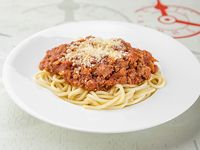 Spaghetti con salsa bolognesa