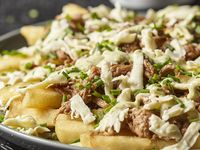 Buffalo Fries Cheese and Beef