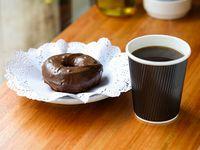 Promo - Cafe orgánico + dona vegana de chocolate