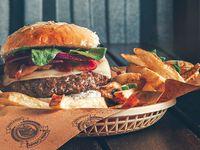 Combo - 2 hamburguesas cebada + cerveza a elección