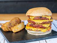 Epic Burger + fritas