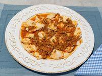 Ravioles de ricota y jamón con tuco o mixta