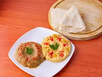 Combo 4 - Hummus 125gr + babaganush 125 gr + 2 panes árabes