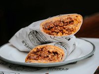 Burrito de carne ahumada