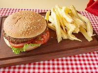 Hamburguesa con lechuga y tomate (grande)