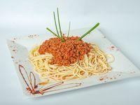 Spaghettis a la boloñesa