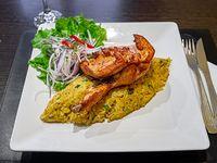 Tacu-tacu con bistec o pollo