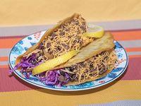 Taco crunch de carne de res