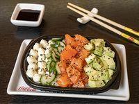 Salad sushi con queso philadelphia