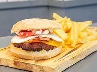 Burger Berlín con guarnición 200 g