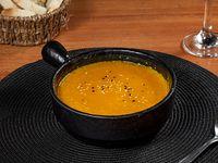 Sopa crema de calabaza y curry