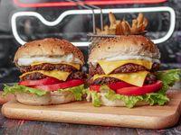 Promo - 2 burger dobles con papas fritas