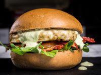 Hamburguesa Veggie. Incluye acompañante