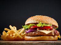 Hamburguesa Sencilla + Papa a La Francesa + Gaseosa 250 ml