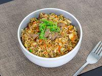 Fried rice con carne de res