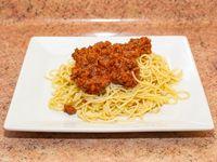 Menú - Spaguetti con salsa bolognesa
