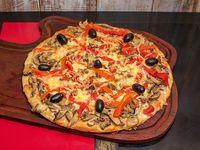 Pizza con champignones