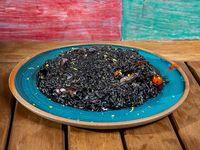 Risotto negro de calamar y sepia