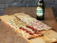 Promo -Metro de muzzarella con 3 gustos + Refresco 1.5 L o Cerveza Patricia 1 L