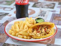 Combo - Arepa perico + papas fritas +pepsi de 500 ml