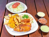 TGC III - 1/4 de pollo + 3 guarniciones + 2 salsas personales